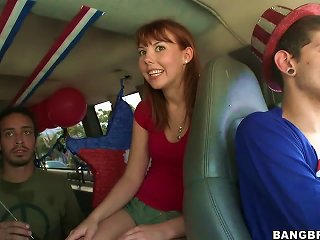 4th Of July Stuffing For A Pretty Girl In The Fuck Van Teen Video