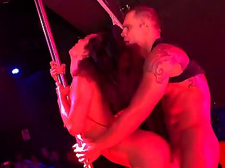 Franceska Jaimes And Nacho Vidal Are Working As The Solo Artists At The Night Club. But Today They Perform Another Kind Of Work - They Are Doing The R Teen Video