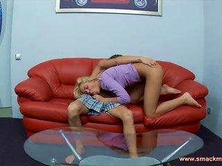 Living Room Sex With The Kinky Blonde Teen Olya Teen Video
