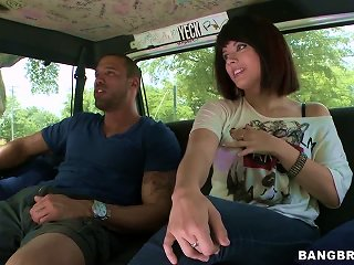 Euro Teen Falls For A Black Cock In The Backseat Of A Van Teen Video