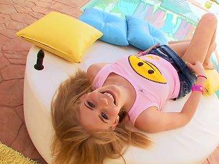 Stunning Blonde In Miniskirt Pose Lovely Before Getting Her Asshole Banged Hardcore Teen Video