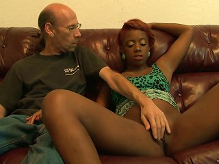 Young Cute Ebony Gets Feasted Hardcore With A Old Guy Teen Video