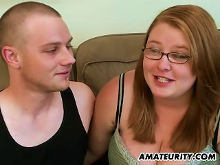 Sexy Chubby Teen With Glasses Gets Cum On Her Tits Teen Video