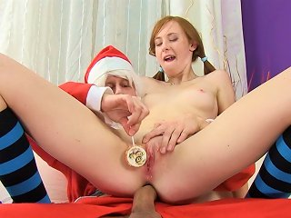 Pigtailed Linda Sweet Is Fucking With Santa Teen Video