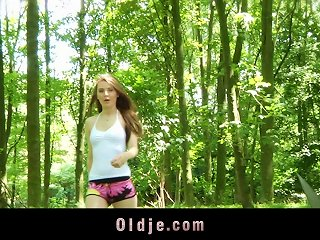 A Hot Teen Meets An Old Guy In A Forest And Fucks Him Teen Video
