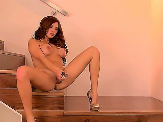Stare At This Beautiful Busty Redhead Chick Sabrina Maree Playing With Her Favorite Glass Dildo In Front Of The Camera And You Will Realize That She I Teen Video