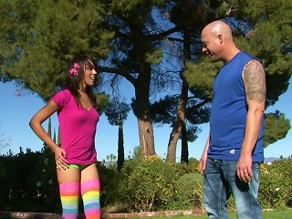 Sunny Day Sex In The Park With A Cute Teen In Rainbow Socks Teen Video