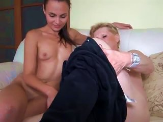 Granny Marie Has Lesbian Sex With A Teen Teen Video