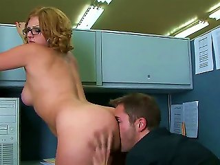 Spectacled Redhead Hottie Ava Rose And Her Colleague Kris Slater Are Having Tons Of Fun In An Office. Beauty Gives Nice Blowjob And Then Stands In Dog Teen Video