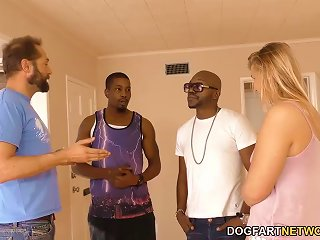 Small Titted Blonde Melissa May Having Fun With Black Dudes Teen Video