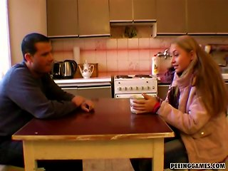 Sweet Blonde Teen In Stockings Nailed Hard In A Doggystyle Teen Video
