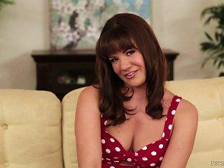 Innocent Teen Brunette On Her Knees Stroking A Man's Hard Dick Teen Video