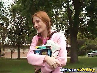 Redhead Teen Allison Wyte Satisfies Two Older  Indoors Teen Video