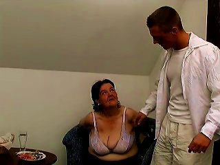 Fat Granny Tanya Gets Her Cunt Fucked And Toyed By A Young Stud Teen Video