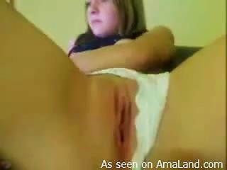 Horny  Plays With Her Completely  Pink Pussy Teen Video