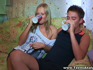 Olga And Mark Are Hot Drunk Teens Fuck Each Other, All Holes! Teen Video