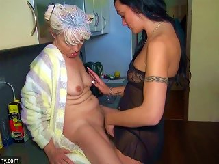 Oldnanny Nice Threesome, Young Couple Is Dealt With Granny Teen Video