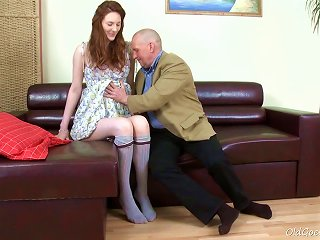 Old Goes Young - Alina Has A Great Looking Ass Teen Video