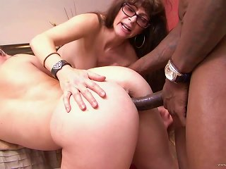 Brunette Mom And Teen In Glasses Share A Bbc In Ffm Anal Scene Teen Video