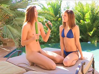 Raylene And Romi Use A Cucumber To Fuck Each Other's Assholes Teen Video