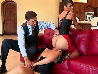 Two Passionate Chicks Dana Vespoli And Maddy Oreilly Are Having Fun On Eyes Of Perverted Dude Steve Holmes. Guy Looks At Chicks Licking Juicy Pussies  Teen Video
