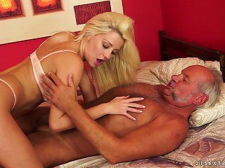 Young Sienna Feeds Sugar Daddy Tits And Clit Plus Finger Fucks And Sucks His Lollipop Teen Video